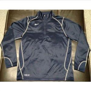 NLC Nike Men's 1/4 Zip Thermafit Pullover Navy LG